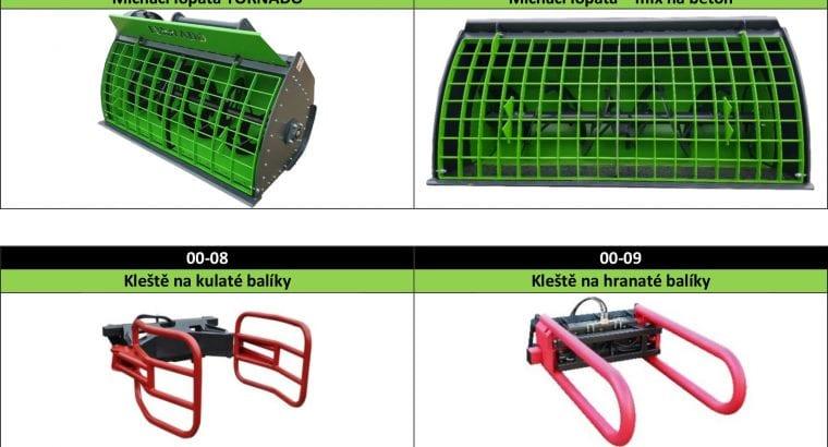 Adaptéry pro nakladače, traktory a manipulátory.