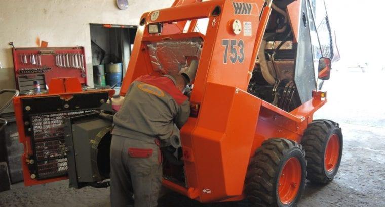 Servis stavebních strojů, pneuservis, půjčovna